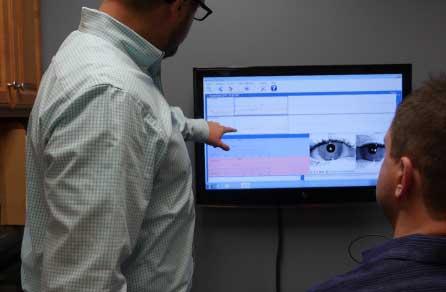 eye exam at office
